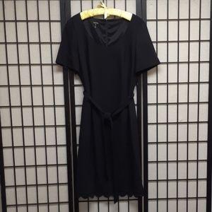 Vintage Escada black crepe wool dress Size 44